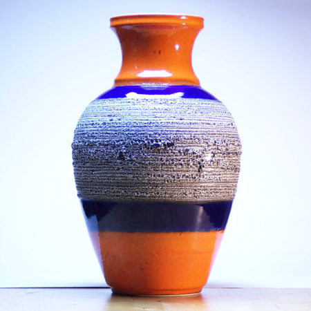 BAY Fat Lava Vase 66-40 Midcentury  home of vintage