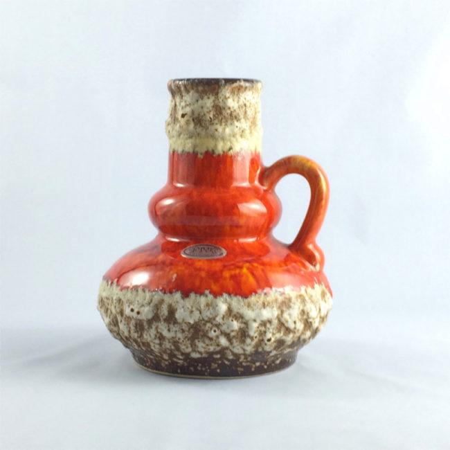 Jopeko Fat Lava Vase 402 16 Mid Century  home of vintage