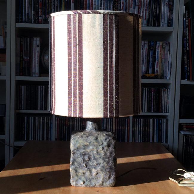 Mobach Keramik Tischleuchte Mid Century  home of vintage