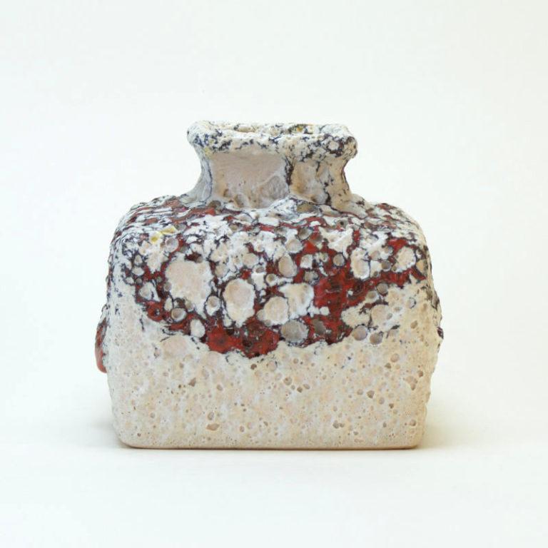 Silberdistel Vase 8 10 WGP Fatlava Glasur  home of vintage