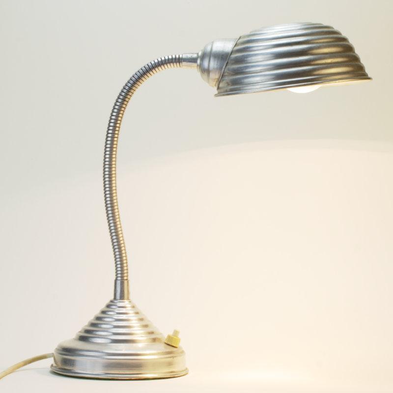 Alu Schwanenhals Lampe Art Deco Home Of Vintagede