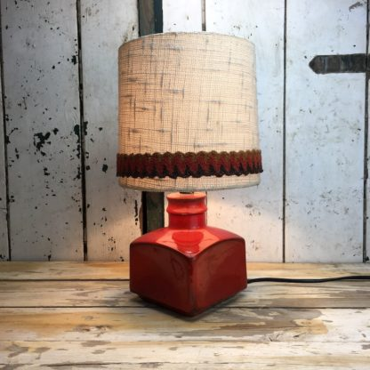 70er Retro Lampe Rot Keramik 3