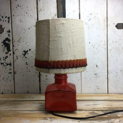 70er Retro Lampe Rot Keramik 5