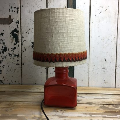 70er Retro Lampe Rot Keramik 6