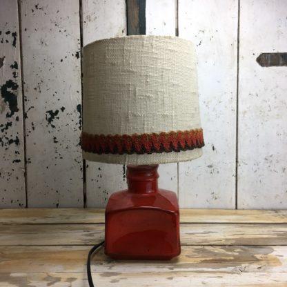 70er Retro Lampe Rot Keramik 7