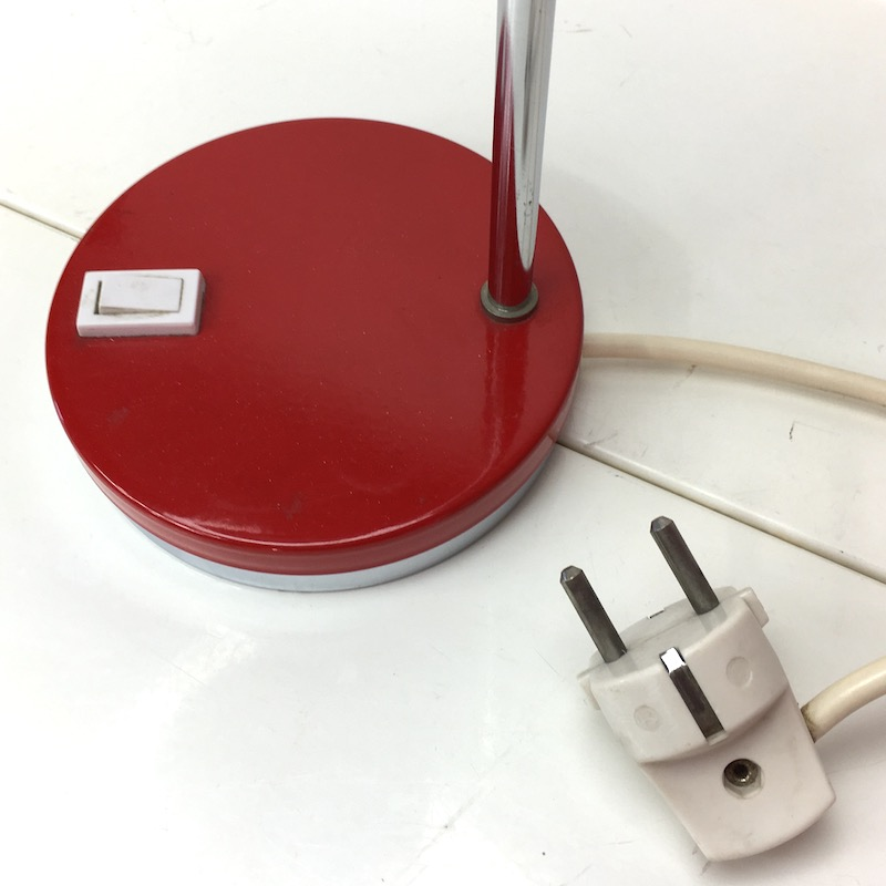 Space Age Schreibtischlampe Rot Kugellampe Stecker