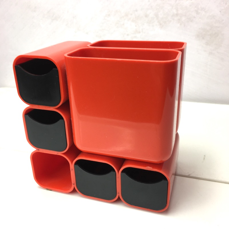 Space Age Organizer Orange 70er Jahre Original Italy
