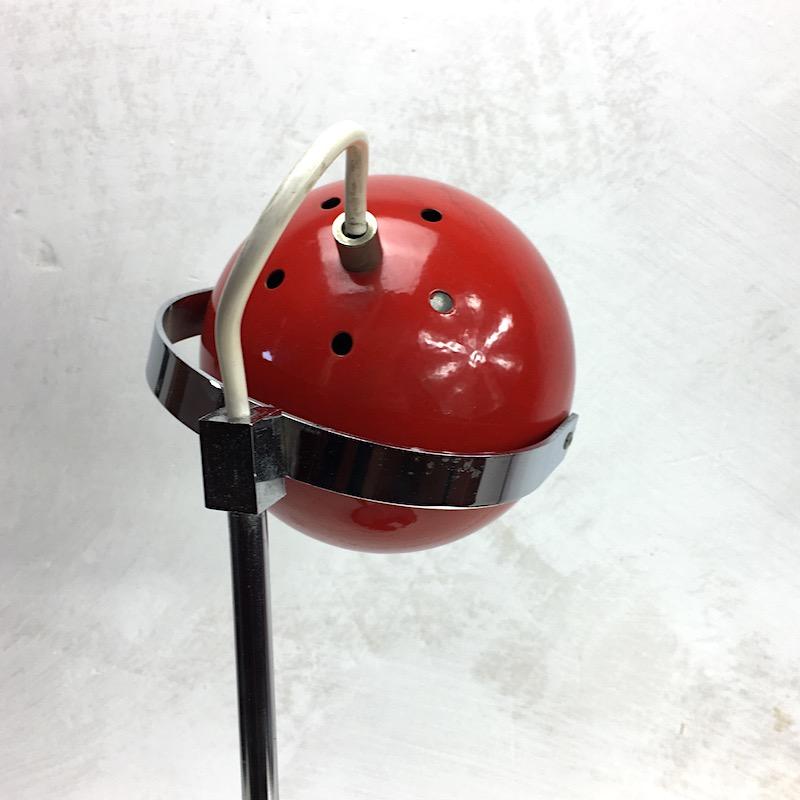 Space Age Schreibtischlampe Rot Kugellampe
