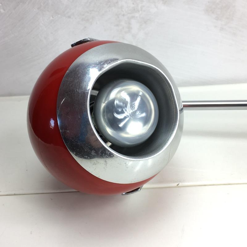 Space Age Schreibtischlampe Rot Kugellampe Kopf