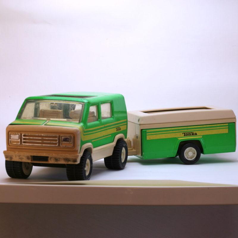 Tonka Van grün mit Camper vorn
