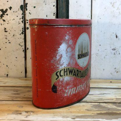 Antike Schwartau Toffee Blechdose rot 2