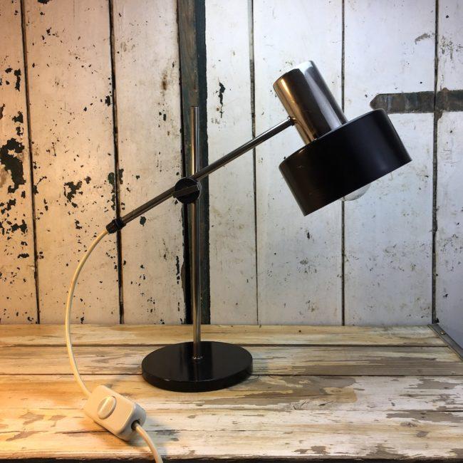 60er 70er Schreibtischlampe Leuchte Tischlampe Chrom  home of vintage
