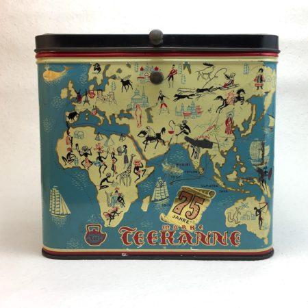 Seltene 75 Jahre Teekanne Jubiläum Blechdose  home of vintage