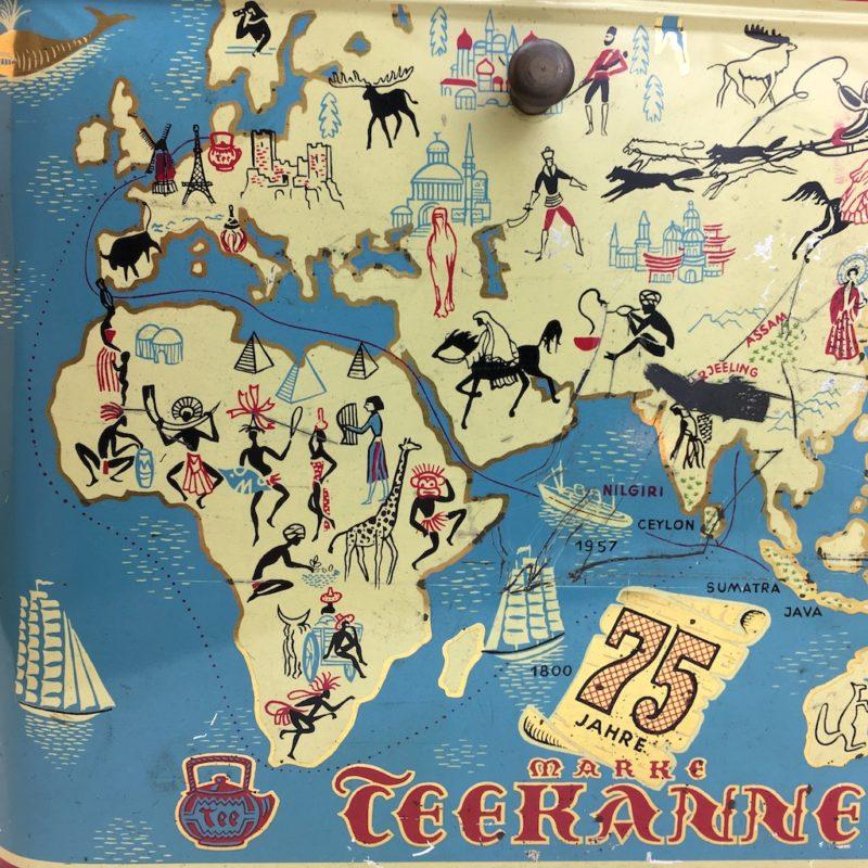 75 jahre teekanne blechdose teefix illustration mid century