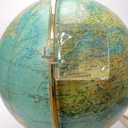 Leuchtglobus Scan-Globe Dänemark 1970 30 cm Mid Century mit Lupe