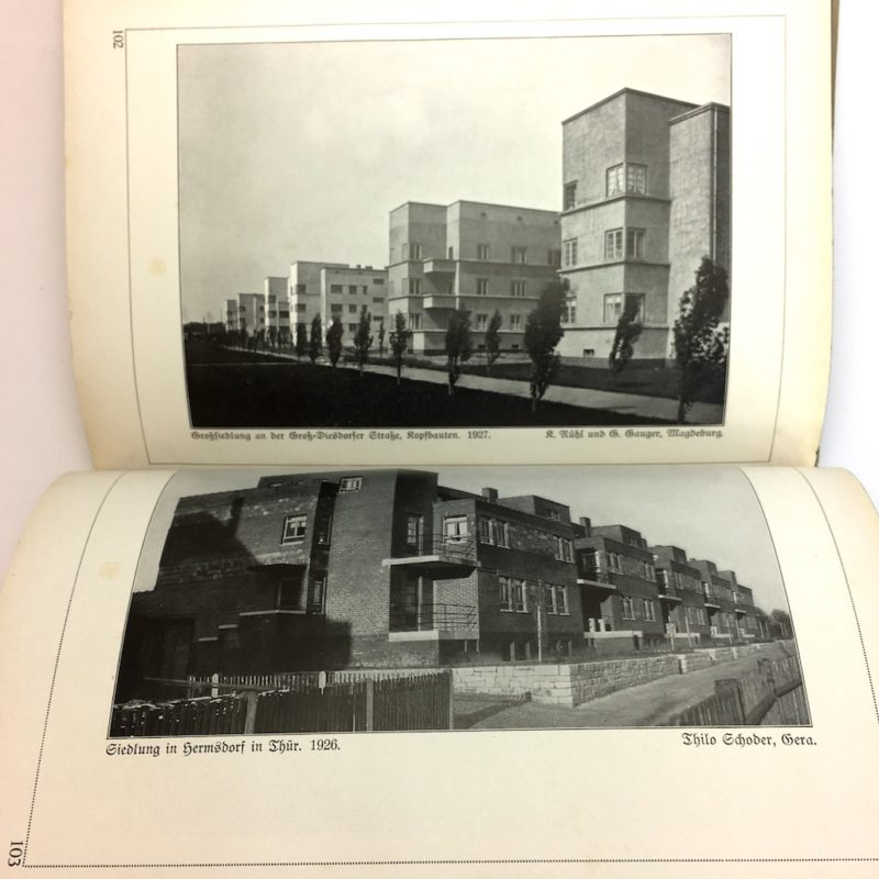 Original Ausgabe 1929 Bauhaus Design Die Blauen Bücher Wohnbauten Modern