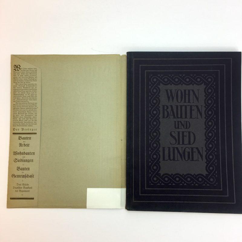 Original Ausgabe 1929 Bauhaus Design Die Blauen Bücher Wohnbauten