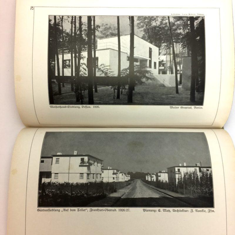 Original Ausgabe 1929 Bauhaus Design Die Blauen Bücher Wohnbauten Weissendorf Siedlung