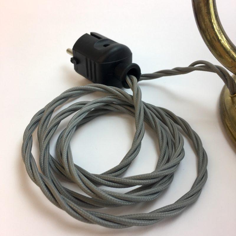 Neues Kabel Helo Tischleuchte 50er Jahre Messing