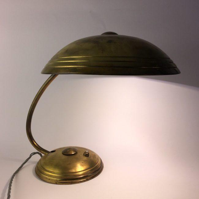 Helo Tischlampe Messing Kaiser Tischleuchte 50er Jahre  home of vintage