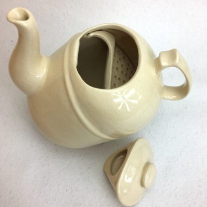 ronnefeldt kippkanne teekanne elfenbein selten innen sieb