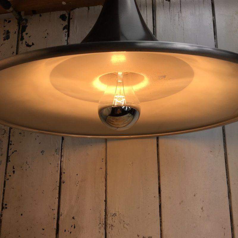 seltene hängelampe space age deckenlampe tulip design reflektor