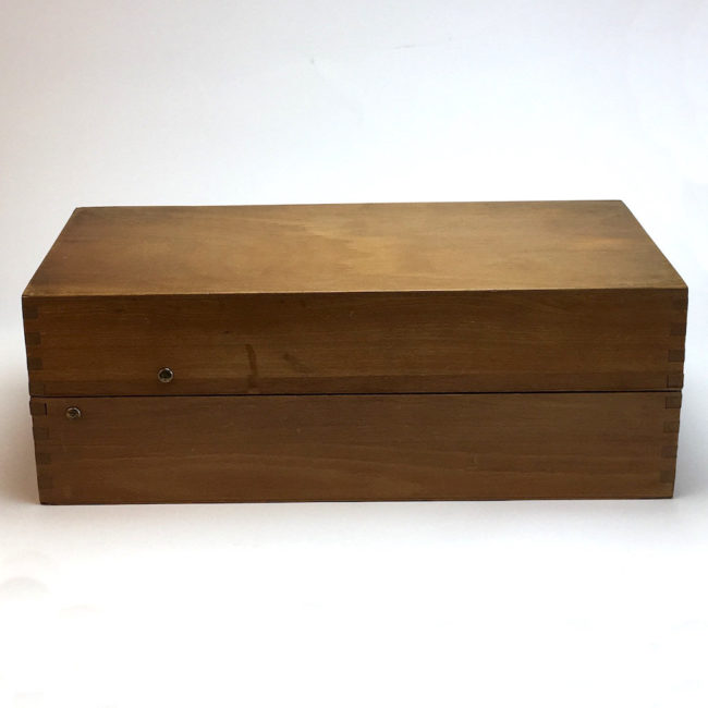 Langer Kontor Holz Karteikasten A6 mit Metallgriff Mid Century  home of vintage