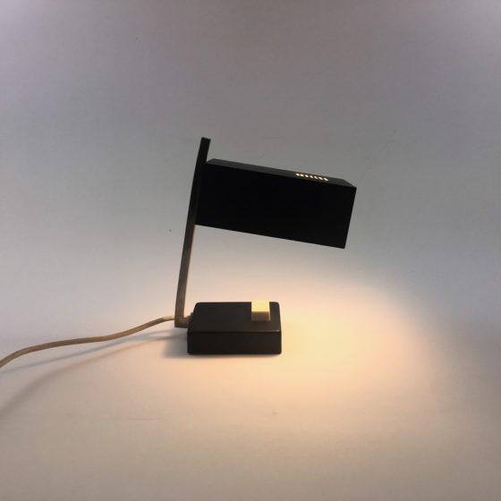Kleine Tischlampe 60er Midcentury schwarz