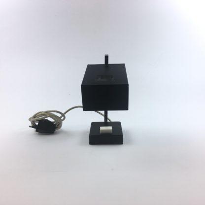 Kleine Tischlampe 60er Midcentury schwarz vorn