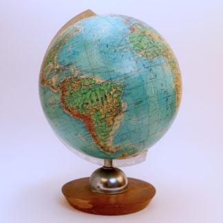 Vintage Globus JRO 22cm topografisch selten
