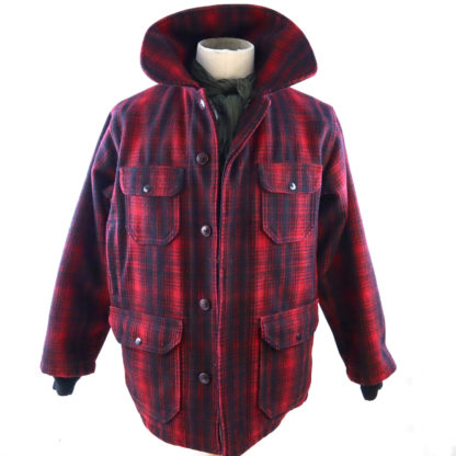 original woolrich hunter buffalo check plaid jacket