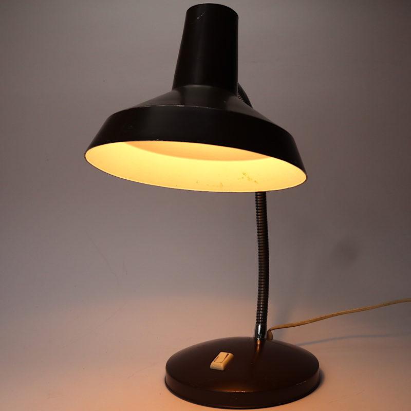 Tischleuchte braun schwanenhals mit LED