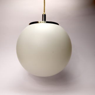 Kugellampe Opalglas Hängeleuchte weiss 27cm