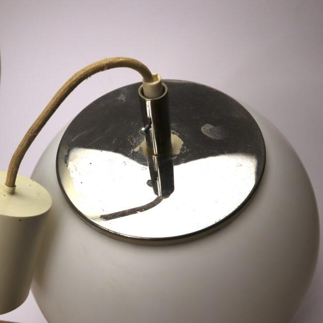 Kugelleuchte Hängelampe Opalglas 27 cm  home of vintage