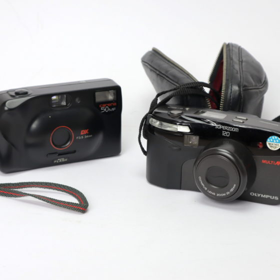 Kamera für Lomographie Olympus Superzoom 120 Bundle Carena