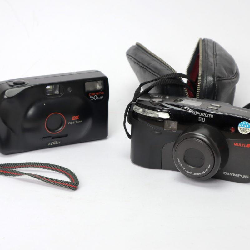 Kamera für Lomographie Olympus Superzoom 120 Bundle Carena