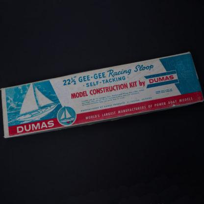 DUMAS Racing Sloop Segelboot Bausatz Holz Mahagony